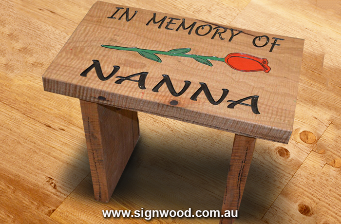memories of nanna wooden bench