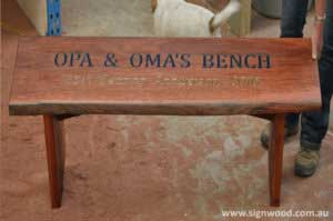 custom made wood benches
