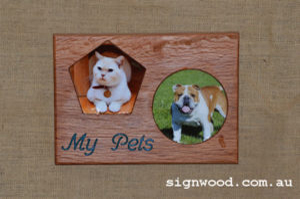 pet wood frame