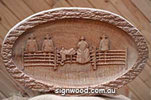 oval fence sitters wood sign
