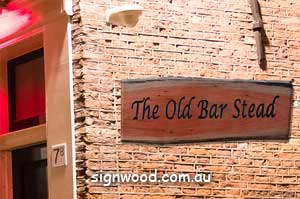 old bar wood sign