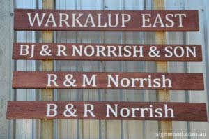 warkalup east wood sign